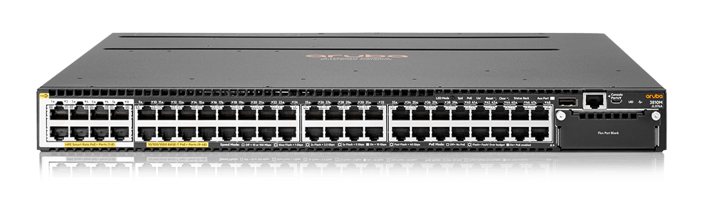 Aruba 3810M 40G 8SR PoE+ 1-slot Switch (JL076A)