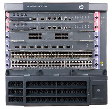 HP 12504 AC or DC Switch Chassis